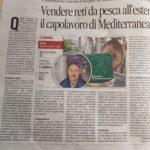 Estratto dal'Articolo del Corriere Adriatico sulla Mediterranea Reti