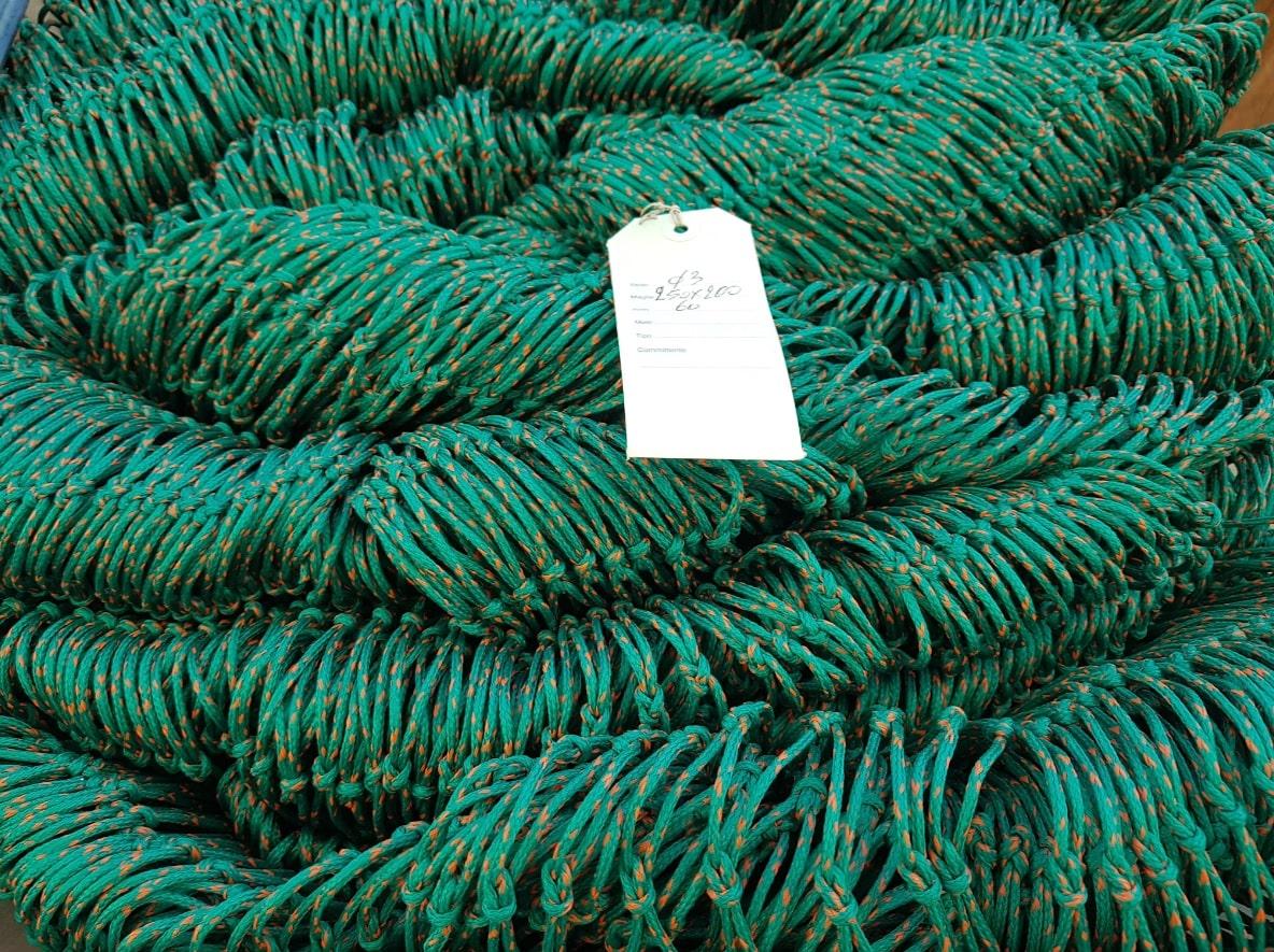 Rete plastica Verde con Nodo